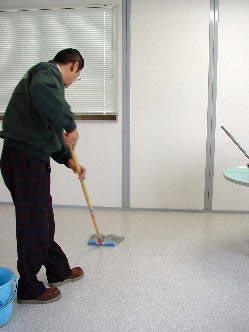 洗浄液を塗る